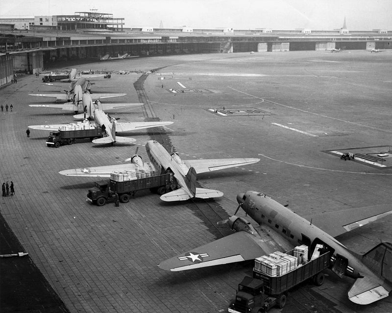 C-47's At Templhof Airport During Berlin Airlift