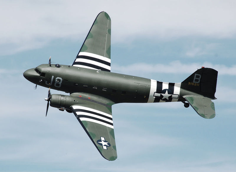 C-47 Skytrain With Normandy D-Day Invasion Stripe Markings