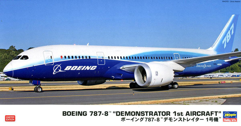 Boeing 787-8 Demonstrator 1st Aircraft 1/200 Scale Model Kit By Hasegawa