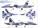 Sukhoi Su-35 Flanker E, 1:48 Scale Model Kit By Kitty Hawk Su-35BM