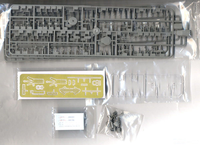 USS New York Battleship BB-34, 1:700 Scale Model Kit Photo Etch & Decals