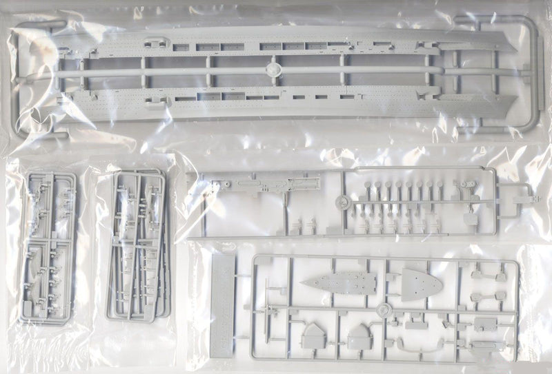Graf Zeppelin German Aircraft Carrier, 1:700 Scale Model Kit Sprue