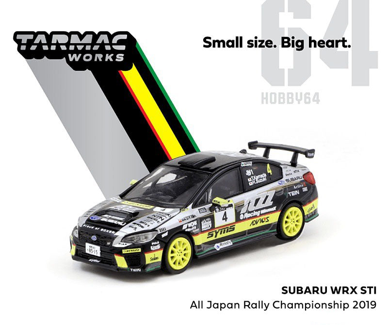 Subaru WRX STI All Japan Rally Champion 2019, 1:64 Scale Diecast Car By Tarmac Works