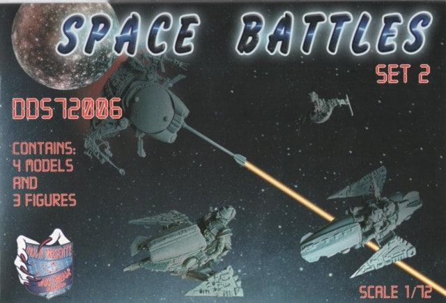 Space Battles Set 2, 1/72 Scale Model Kit by Orion Dark Dream Studio Box Cover