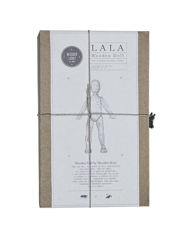 Beech Wooden Figure La La With Shirt & Trousers Box