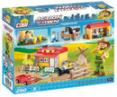 Farmhouse, Action Town 250 Piece Block Kit By Cobi Back Of Box