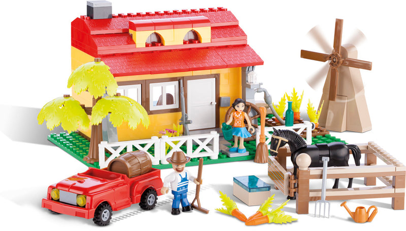 Farmhouse, Action Town 250 Piece Block Kit