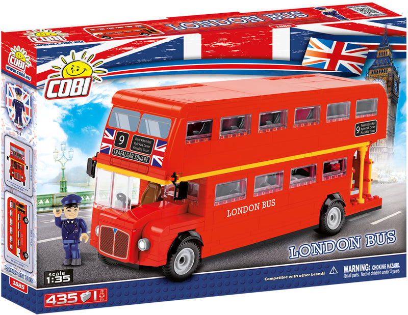 London Bus, Action Town 435 Piece Block Kit By Cobi Box Front