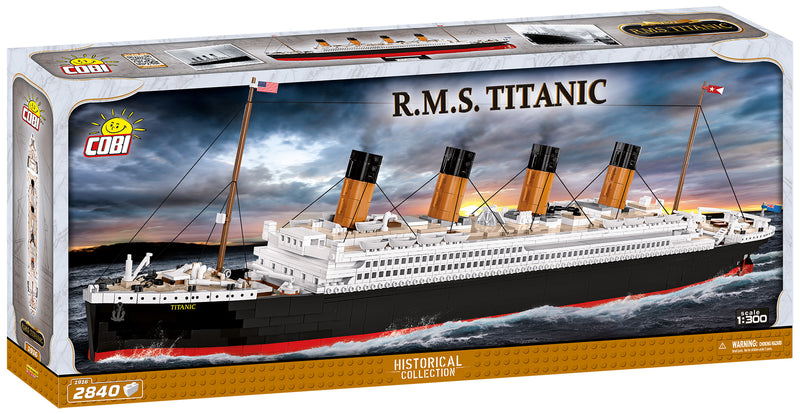RMS Titanic 1:300 Scale, 2810 Piece Block Kit By Cobi