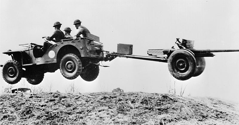 Flying Jeep With 37mm Gun