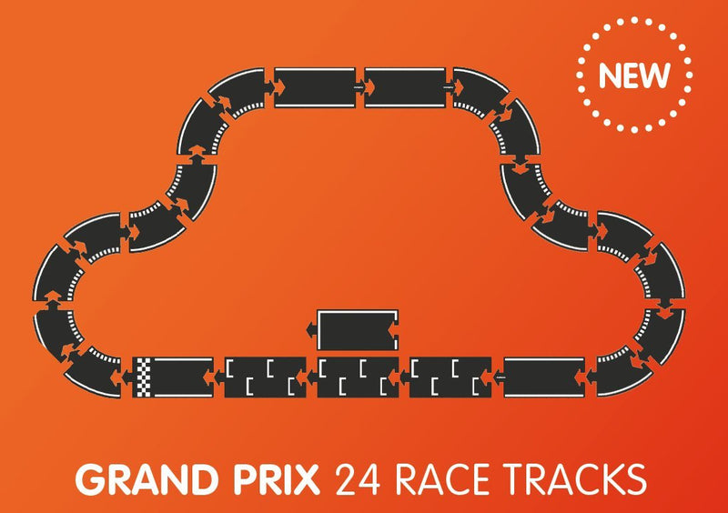 Grand Prix 24 Piece Flexible Toy Road Set By Waytoplay Toys