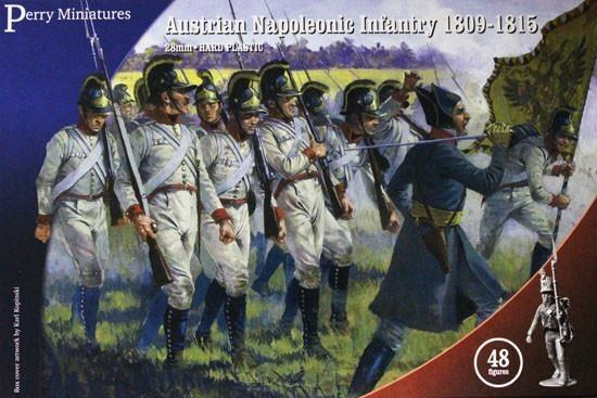 "Napoleonic Austrian ""German"" Infantry 1809 - 1815 28 mm Scale Model Plastic Figures By Perry Miniatures"