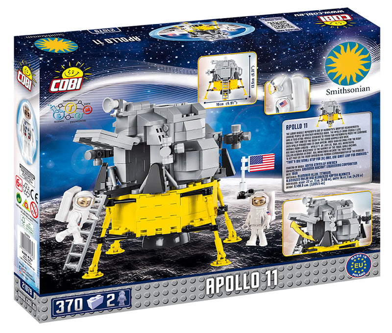 Apollo 11 Lunar Module, 370 Piece Block Kit By Cobi Box Back
