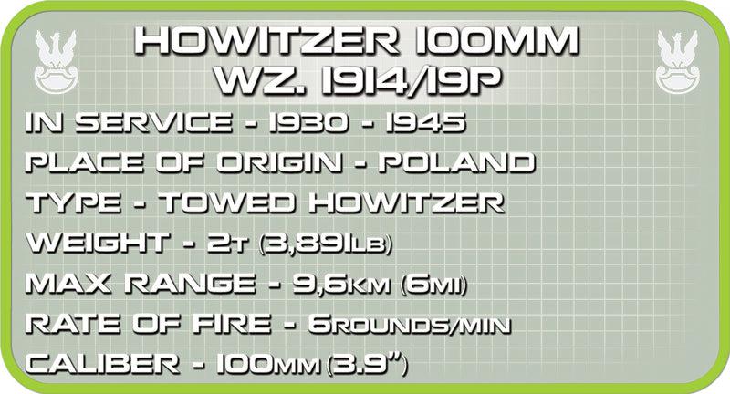 Skoda 100mm Howitzer WZ 1914/19P, 50 Piece Block Kit By Cobi