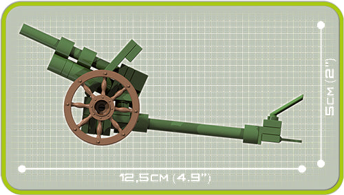 Skoda 100mm Howitzer WZ 1914/19P, 50 Piece Block Kit By Cobi Dimensions