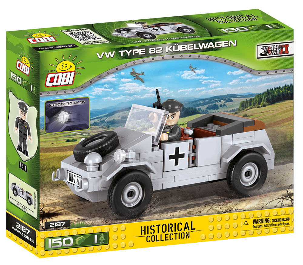 VW Type 82 Kubelwagen, 150 Piece Block Kit By Cobi Box Front