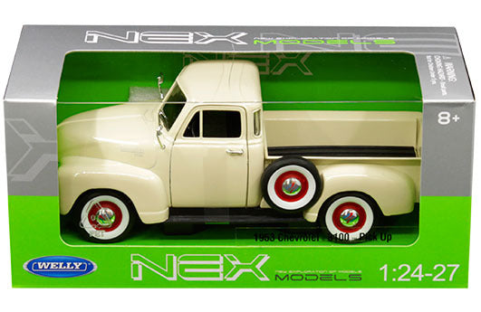 Chevrolet 3100 Pick Up 1953  1:24 - 27 Scale Diecast Model (Cream) By Welly