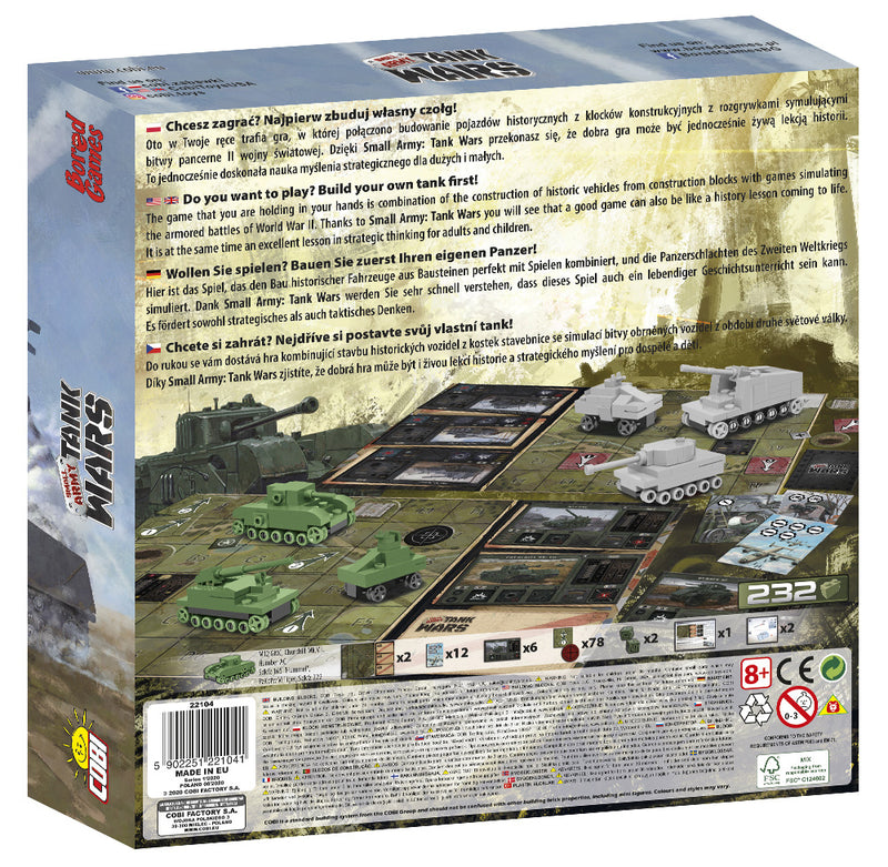 Tank Wars Board Game Back Of Box