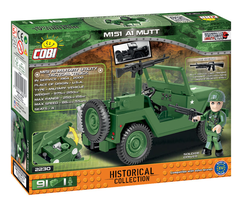 M151 A1 MUTT 91 Piece Block Kit By Cobi Back Of Box