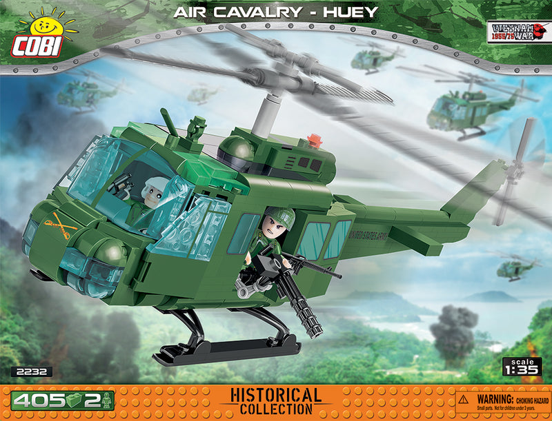 Air Cavalry Huey Helicopter, 405 Piece Block Kit By Cobi