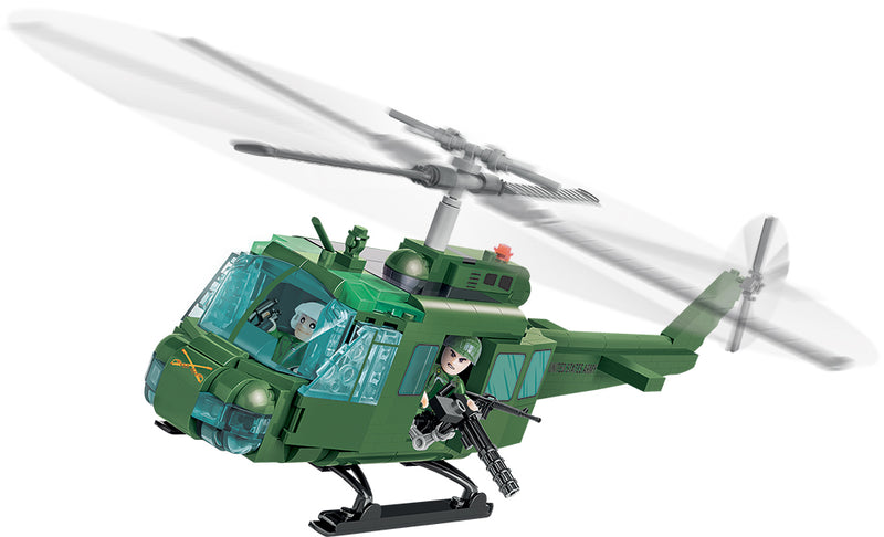 Air Cavalry Huey Helicopter, 405 Piece Block Kit