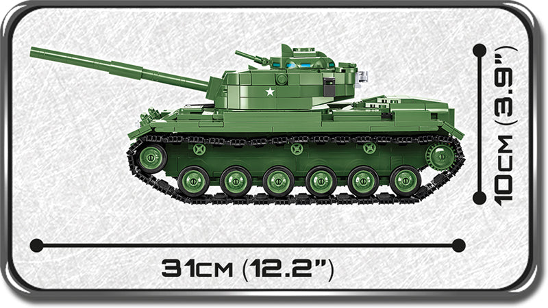 M60 Patton Tank, 605 Piece Block Kit