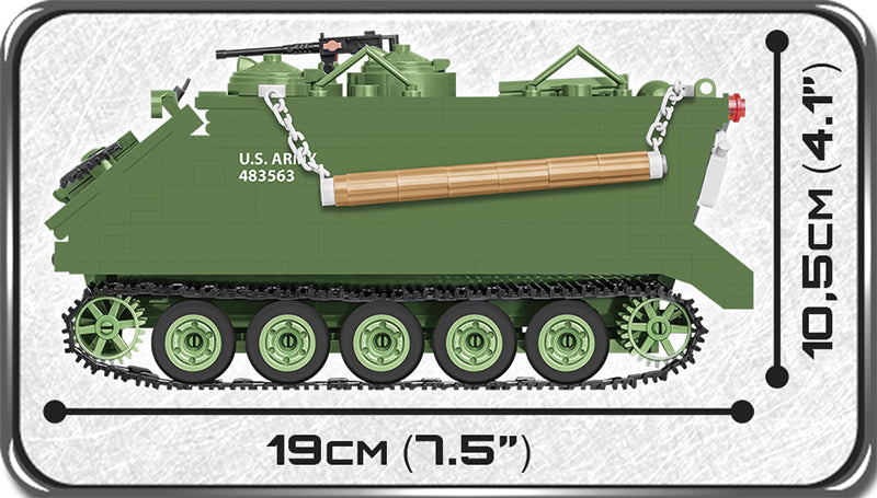 M113 Armored Personnel Carrier, 510 Piece Block Kit By Cobi Side View Dimensions