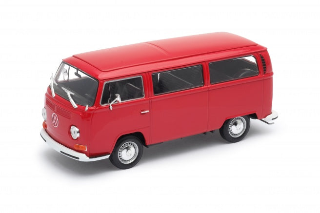 "Volkswagen Type 2 ""Bus"" T2 (Red) 1:24 Scale Diecast Car By Welly"