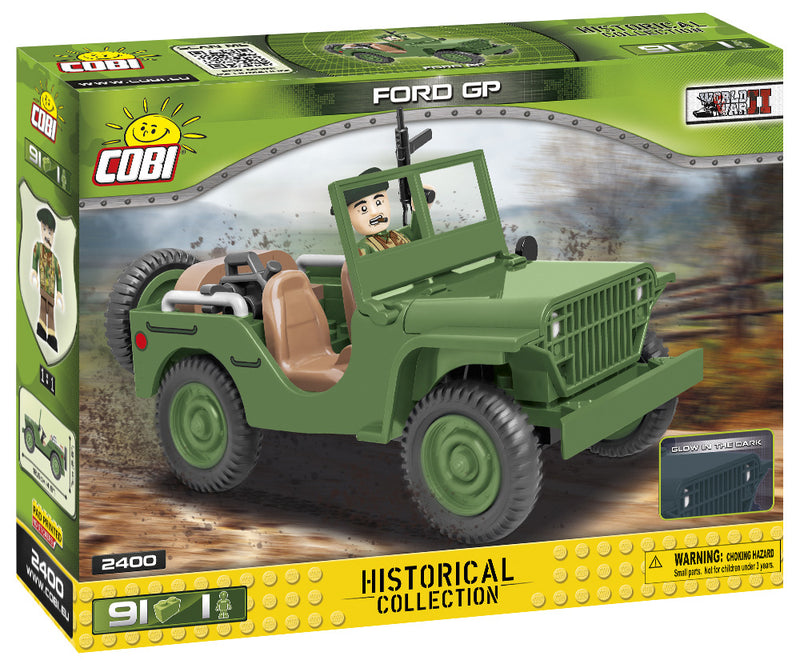 Ford GP ¼ Ton 4 x 4, 91 Piece Block Kit By Cobi