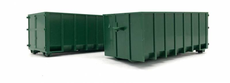 18' Roll-Off Container (2 pcs) 1:87 (HO Scale) Model By Promotex