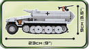 Sd.Kfz 251/9 Ausf. C Stummel Halftrack, 460 Piece Block Kit By Cobi Side View Dimensions