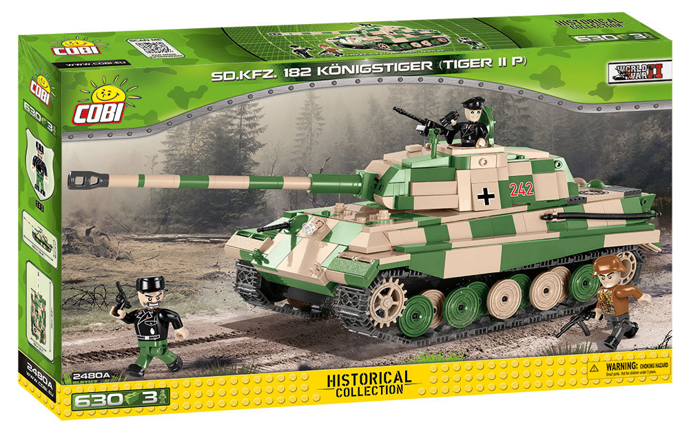 "Tiger II (PzKpfw VI B ""Konigstiger"") Porsche Turret,  630 Piece Block Kit By Cobi Box Front"