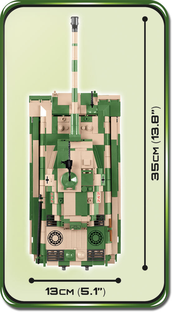 "Tiger II (PzKpfw VI B ""Konigstiger"") Porsche Turret,  630 Piece Block Kit By Cobi Top View Dimensions"