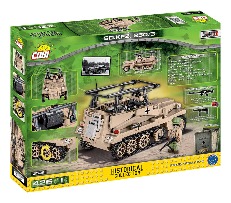 Sd.Kfz 250/3 Command Halftrack, 426 Piece Block Kit By Cobi Back Of Box
