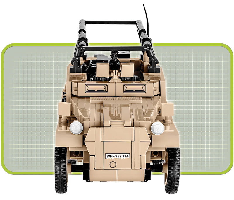 Sd.Kfz 250/3 Command Halftrack, 426 Piece Block Kit By Cobi Front View