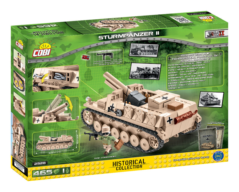 Sturmpanzer II, 465 Piece Block Kit By Cobi Back Of Box