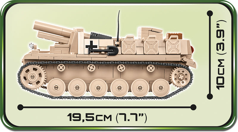 Sturmpanzer II, 465 Piece Block Kit By Cobi Side View Dimensions