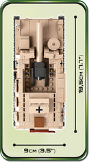 Sturmpanzer II, 465 Piece Block Kit By Cobi Top View Dimensions