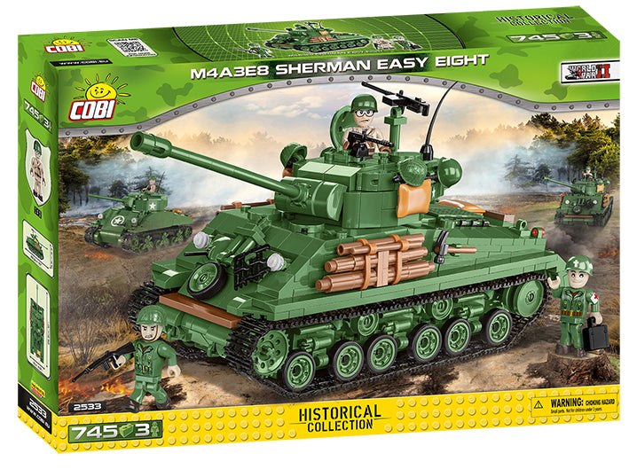 "M4A3E8 ""Easy Eight""  Sherman Tank  725 Piece Block Kit By Cobi"