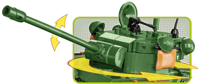 "M4A3E8 ""Easy Eight""  Sherman Tank  725 Piece Block Kit Turret Detail"