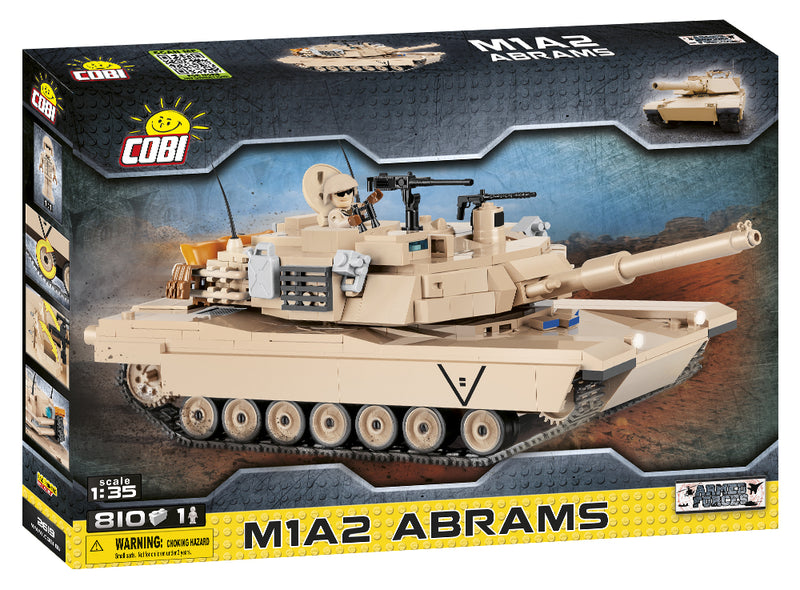 M1A2 Abrams Main Battle Tank, 810 Piece Block Kit By Cobi