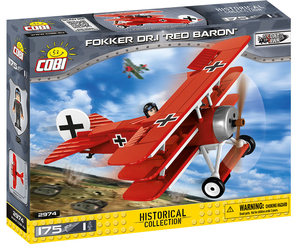 Fokker Dr.1 Red Baron, 175 Piece Block Kit By Cobi Box Front