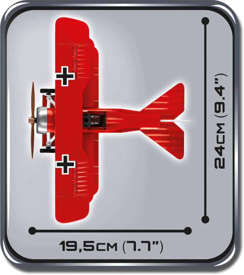 Fokker Dr.1 Red Baron, 175 Piece Block Kit By Cobi Top View Dimensions