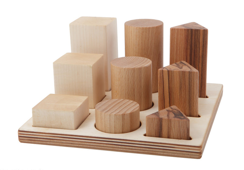 Natural Colored Shape Sorter Board XL By Wooden Story