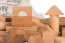 Natural Colored Blocks In Sack - 100 pcs By Wooden Story