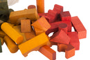 Rainbow  Colored Blocks In Sack - 100 pcs