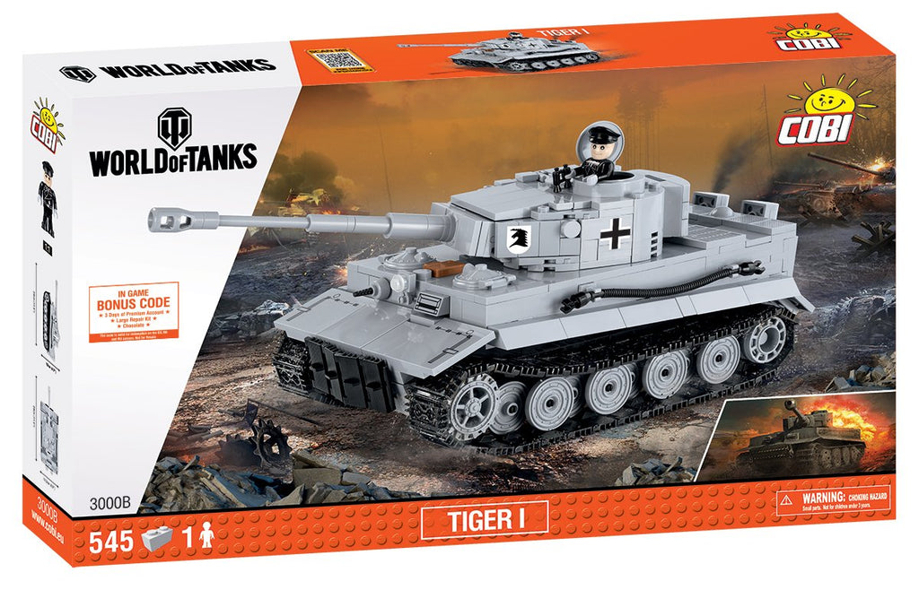World Of Tanks Tiger I Heavy Tank, 545 Piece Block Kit By Cobi Box Front