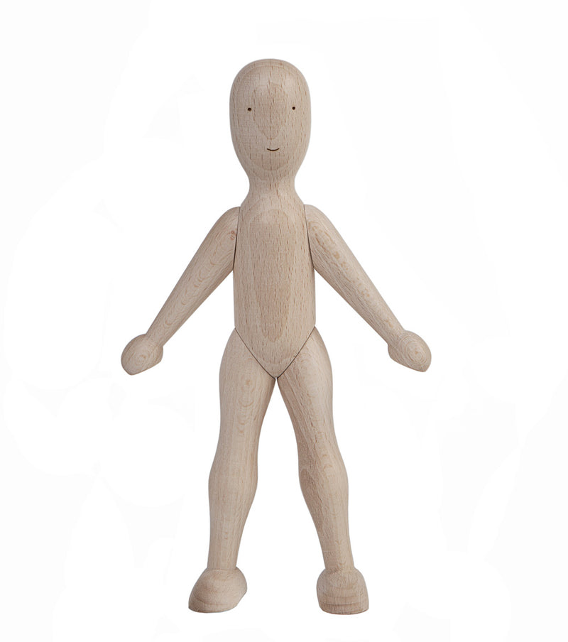 Beech Wooden Figure La La With Shirt & Trousers