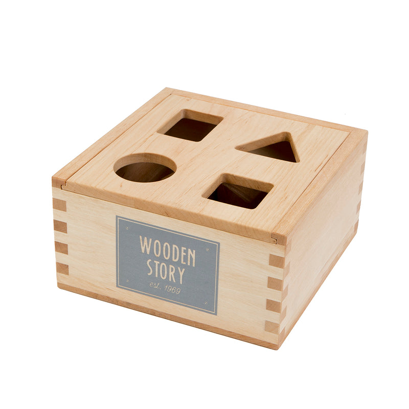 Natural Colored Shape Sorter Box By Wooden Story