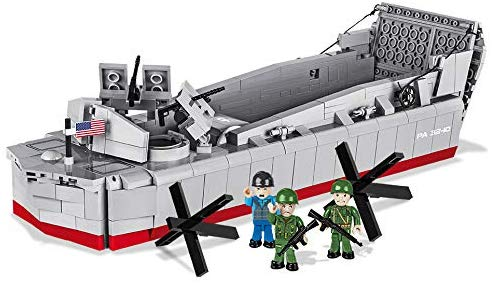 Landing Craft Vehicle Personnel (LCVP) Higgins Boat D-Day 1:35 Scale, 510 Piece Block Kit